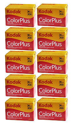 Boxed Kodak Colorplus 200 35mm 36exp Film 10Rolls  / Date 2021/12 New In Hand