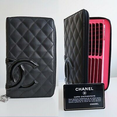 53d30c34582c Chanel Cambon Large Leather Wallet Zip Organiser Bifold Black Quilted A48660