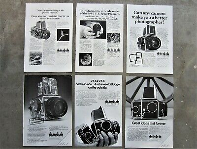 8x HASSELBLAD CAMERAS 1980's Vintage Magazine Page Advertisements Ads NASA SPACE