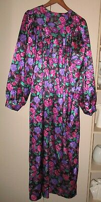 Vintage Size 16 Damart Bright Floral  Dressing Gown  Good Condition