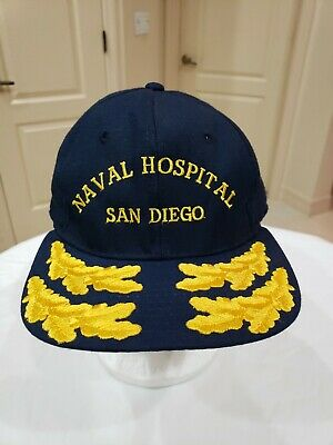 Vntg USN San Diego Naval Hospital VCNO Vice Chief Operations Gold Leaf Hat Cap