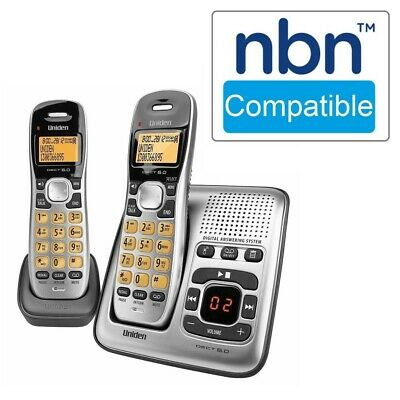 NBN Compatible WiFi Friendly Cordless Phone Answering 2 x Handset Dect Digital