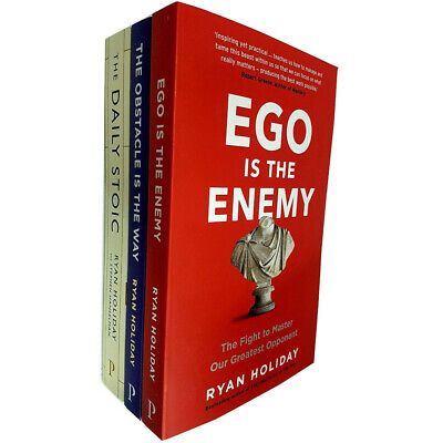 The Daily Stoic, Ego Is The Enemy 3 Books Collection Set By Ryan Holiday NEW