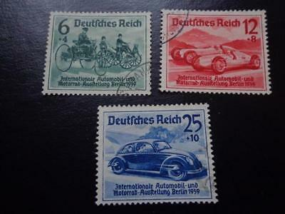 THIRD REICH 1939 complete Berlin Automobile Exhibition stamp set