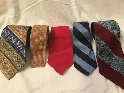 54ef5703ca20 5 Lot Tie VINTAGE 50's 60's Mod Mid Century Wembley Grenada Prince Golden  Regal