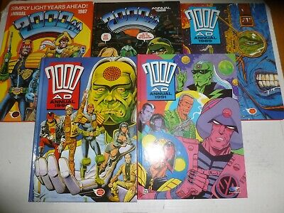 2000 AD UK Comic Annual JOB LOT - 5 Annual Job Lot - Year 1987 too 1991 Inc