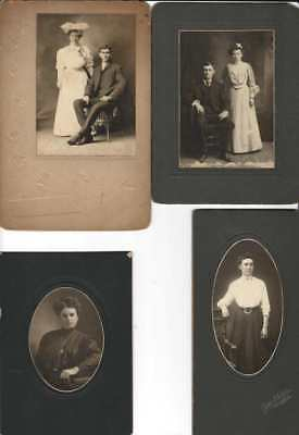 CABINET CARD PHOTO LOT Family PHOTOGRAPHS Vintage VICTORIAN