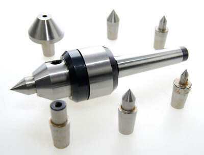 2MT Interchangeable Point Revolving Live Centre Compatible with Myford Lathe etc