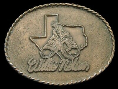 PD22101 VINTAGE 1970s **WILLIE NELSON** TEXAS COUNTRY MUSIC SOUVENIR BUCKLE