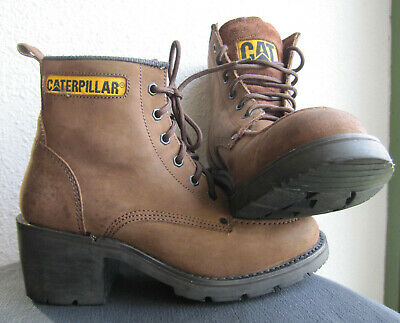 99e05dcfc42946 Chaussures Caterpillar Femme Boots Bottes Bottines A Talon Marron T 39 Wide