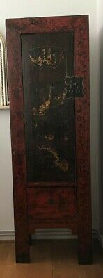 Antique Original Chinese Elm Tall Cabinet from Shanxi