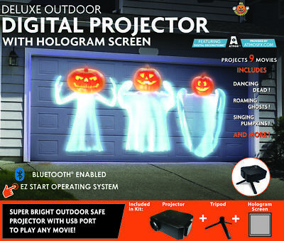 Halloween Outdoor Deluxe Virtual Holiday Projector*New*Free Shipping