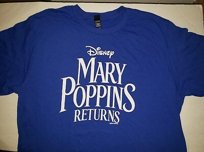 Mary Poppins Returns (2018) T-Shirt Movie Studio Promotional SWAG Size L