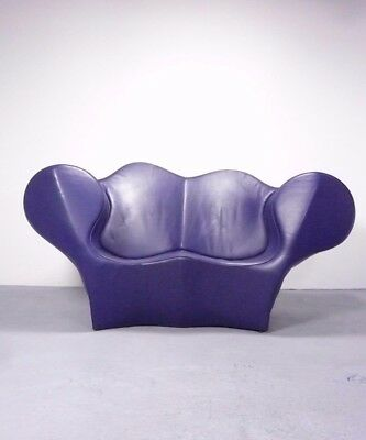 "leather sofa loveseat ""Double Soft Big Easy"" design Ron Arad 1991, Moroso Italy"
