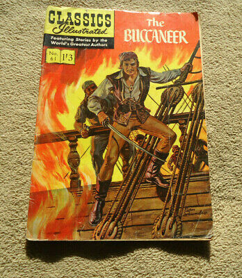 Vintage Classics Illustrated no 61 The Buccaneer HRN 508 British