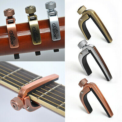 For Acoustic Electric Guitar Bronze Alice A007J Guitar Capo /Key Clamp