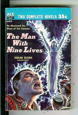MAN WITH NINE LIVES & TOUCH OF INFINITY Elison, Ace sci-fi gga pulp vintage pb