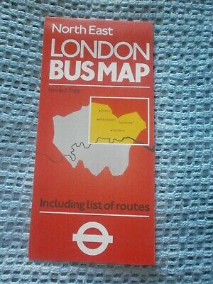 Map Of North East London.London Transport Bus Map North East London No 1 1983