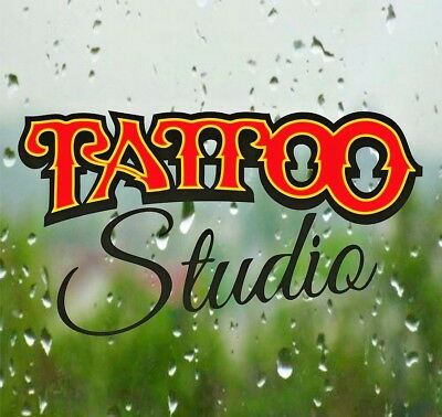 Tattoo Window Stickers Studio Shop Sign Wall Decal Vinyl Art Advertising Retail