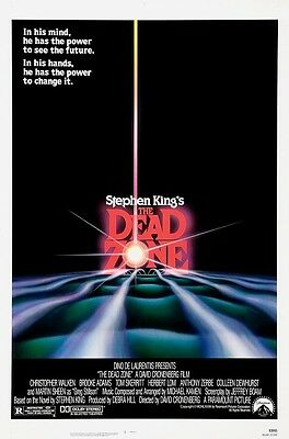 The Dead Zone movie poster : 11 x 17 inches Stephen King, Christopher Walken