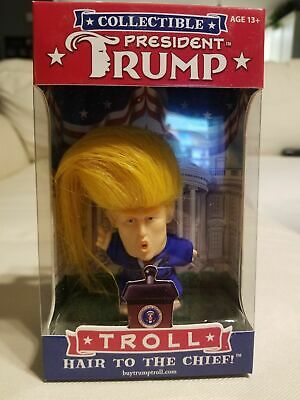 """President Donald Trump Collection Troll  Doll  """"Hair to the Chief"""""""