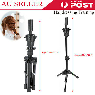 Wig Head Stand Mannequin Tripod Hairdressing Training Holder For Hair-styling AU