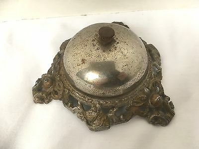 Antique Ornate Cast Iron Horse Pattern  Desk Bell Made In Germany