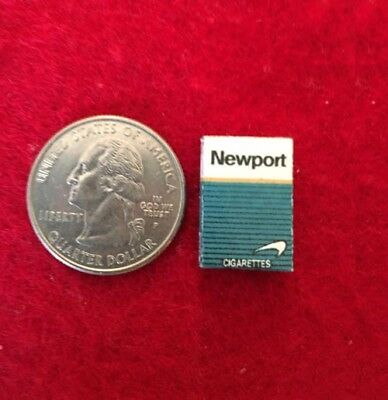 "1:6 scale handmade miniature for 11""-12"" size dolls - Newport cigarette pack"