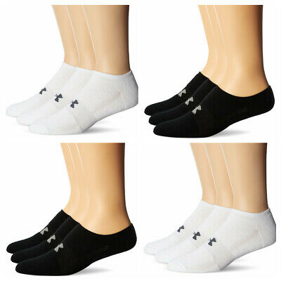 e85b6ba0b0b UNDER ARMOUR ELEVATED Performance Men's No Show Socks 3 Pack Large ...