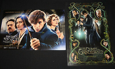 2 FANTASTIC BEASTS & WHERE TO FIND THEM AMC Promo Movie Posters GRINDELWALD