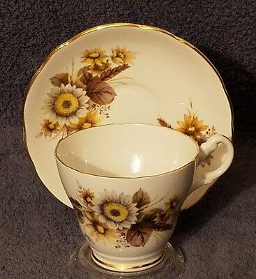Royal Ascot English Bone China TeaCup & Saucer Floral