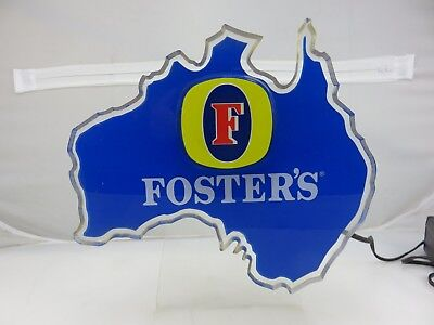 """Foster's Lager Beer Bar Wall Mount or Free Standing LIGHTED Sign 10"""" x 10.5"""""""