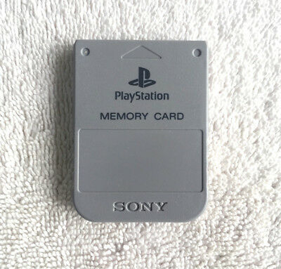 Genuine Official Sony Playstation 1 PS1 Memory Card SCPH-1020 OEM GREY TESTED