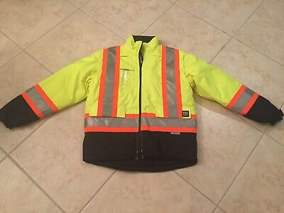 3M Work King Construction High Visibility Safety Jacket Medium, New WITHOUT Tags