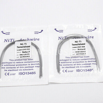 1 Pack Dental Ortho Niti Heat Thermal Activated Natural Arch Wire Rectangular