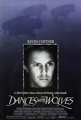 Dances With Wolves movie poster print : 11 x 17 inches : Kevin Costner poster