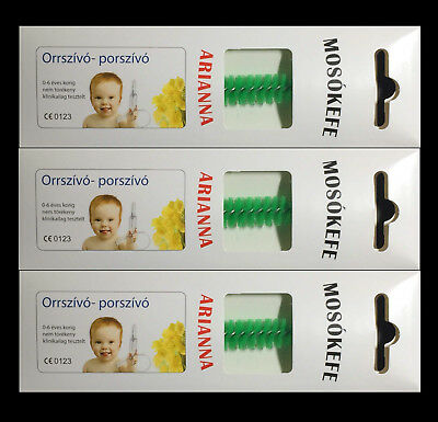Baby Vac Brush Nose Green Arianna 3 pcs.
