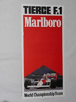 Flyer 1988 Marlboro World Chamionship Team F1 Grand Prix Spa Francorchamps Senna