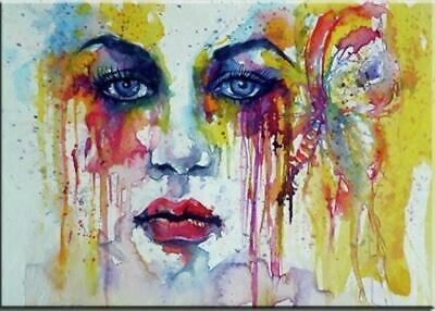 ZOPT851 hand painted fancy abstract girl wall art OIL PAINTING art on CANVAS