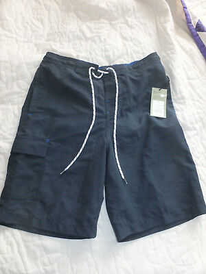 d6683300c263f Nwt Mens Goodfellow & Co Board Shorts Swim Trunks Size Small Navy Sits At  Knee P
