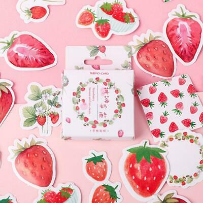 Kawaii Strawberry Flavor Stickers Pink Stickers, Girly Stickers, Cute Stickers