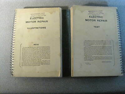 Electric Motor Repair Dual Book by Robert Rosenberg 1946 Illustrated Used