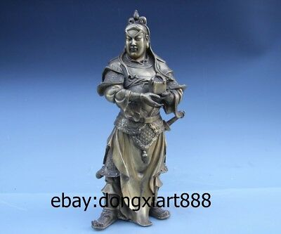 Chinese Ancient Attendant of Guan Gong Soldiers Zhou Cang Hold government seal