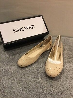 b60f08e9bb NEW Nine West Women's Marie Suede Ballet Flat Shoes - Light Natural Size 7