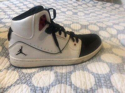 fdafa27c8f940f Nike Air Jordan 1 Flight 2 Prem Premium Shoes White Black 640603-101 Men s