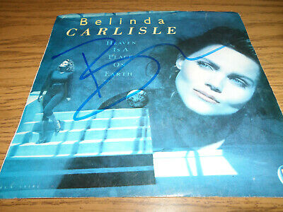 Belinda Carlisle (The Go-Gos) Signed/Autographed 45 Vinyl Record Heaven On Earth