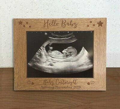Personalised New Baby First Scan Photo Frame Baby Shower Gift Pregnancy Keepsake