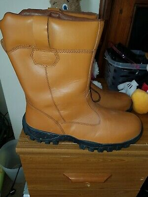 78e11bf5137 RIGOUR GALACTIC TAN Safety Work Boots Steel Toe Cap Rugid Size 10 ...