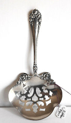 """R. Wallace & Sons Sterling Silver Nut Spoon Server Pat. 1898 4 5/8"""""""