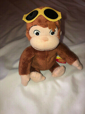 Marvel Toys Curious George Plush Monkey Sunglasses Beach  6""